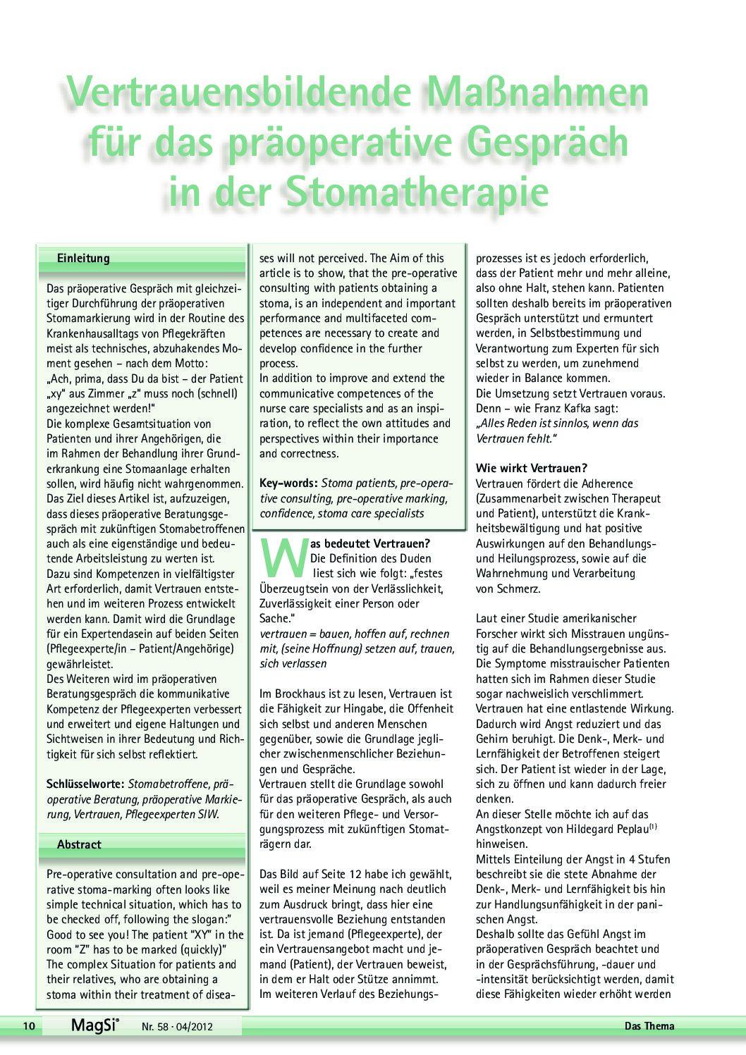 Praeoperatives Gespraech PDF